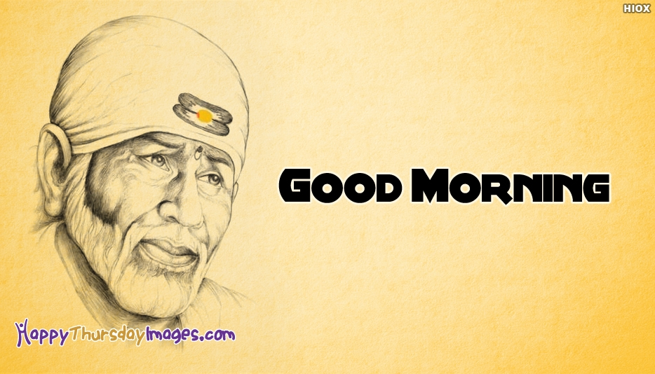 Good Morning Sai Baba Image Download - Happy Thursday Images for Devotional