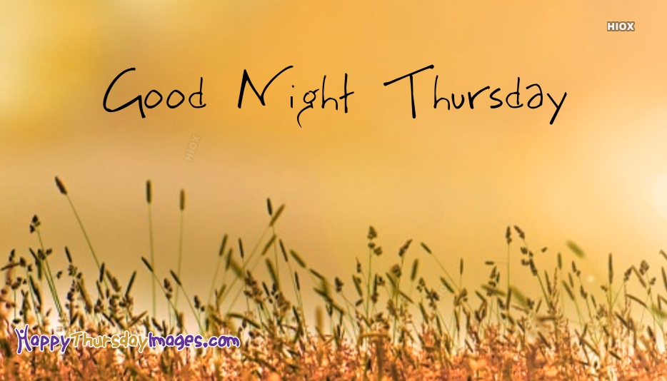 Good Night Thursday Images