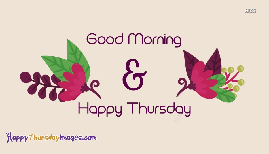 Happy Thursday Images with Flowers