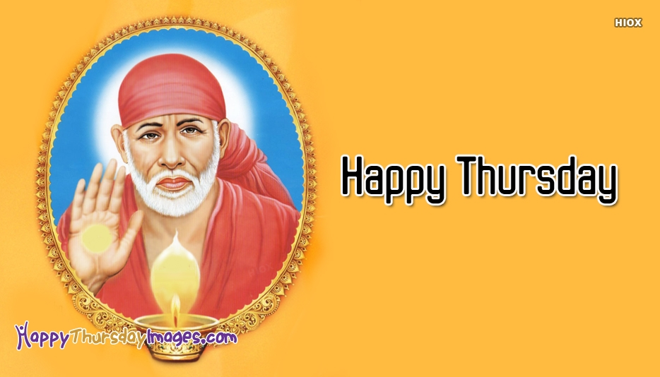 Happy Thursday Images for Sai Baba