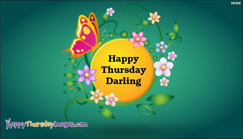 Happy Thursday Darling - Happy Thursday Images for Darling