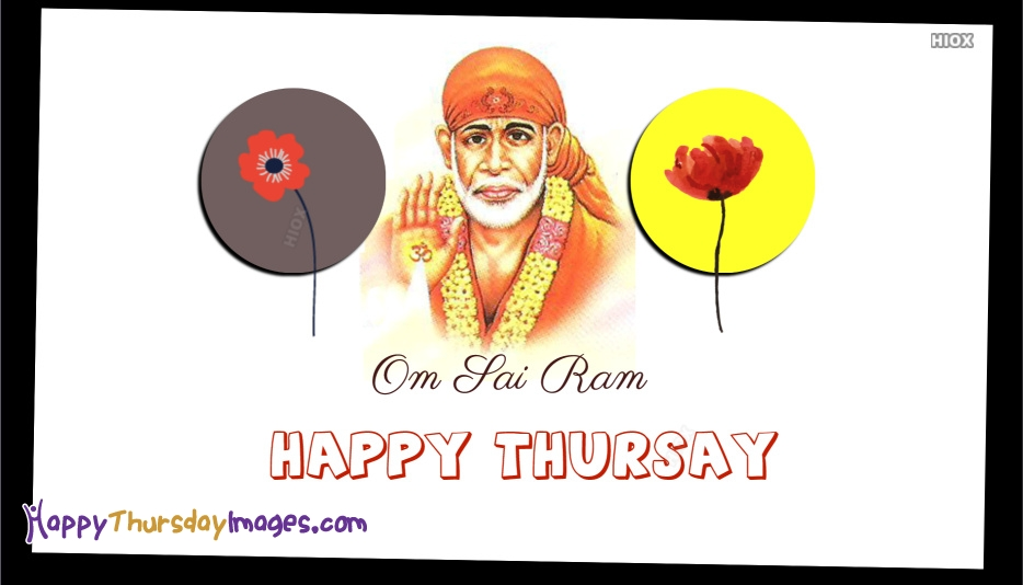 Happy Thursday Om Sai Ram Image