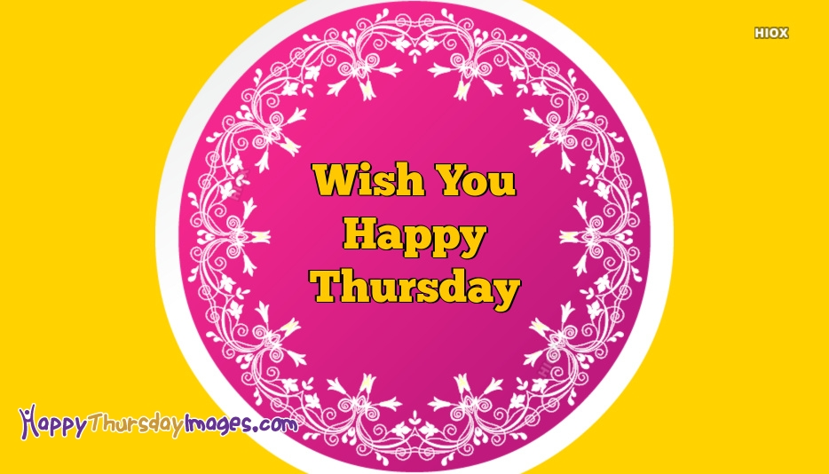 Thursday Wishes With Pink Background Image