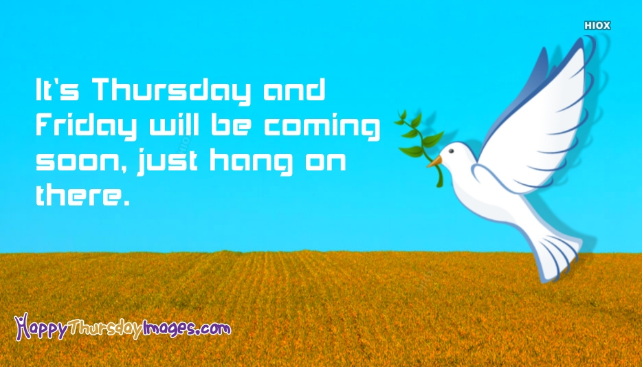 Its Thursday and Friday Will Be Coming Soon, Just Hang On There