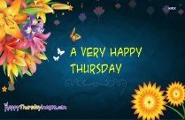 A Very Happy Thursday