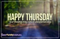 Happy Thursday Blessings