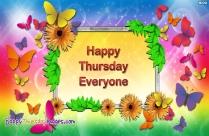 Happy Thursday Everyone