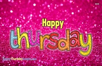Happy Thursday Glitter