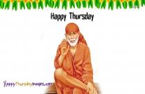 Happy Thursday Image With Sai Baba