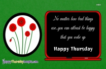Happy Thursday Quotes With Flowers
