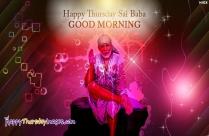 Happy Thursday Sai Baba Good Morning