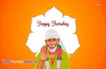Happy Thursday Sai Baba Image