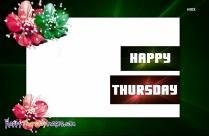 Happy Thursday Flower