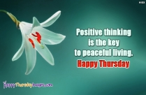 Positive Thinking Is The Key To
