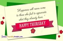 Happy Thursday Wallpaper