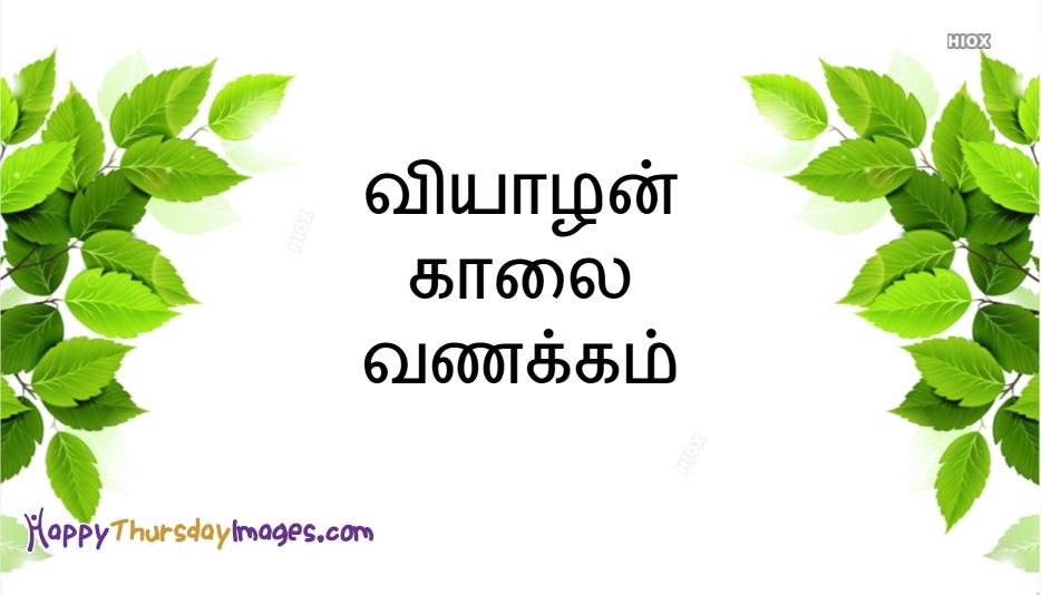 Kaalai Vanakkam Tamil Greeting